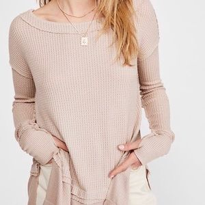 NWT Free People north shore thermal oversized top
